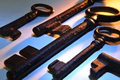 Vieilles clés photographie stock