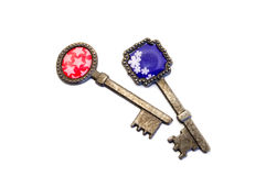 Vieilles clés décoratives Images stock