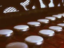 Vieilles clés d'accordéon Images stock