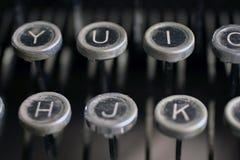 Vieilles clés de machine à écrire Image libre de droits