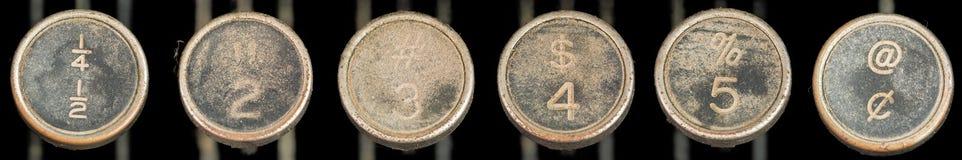 Vieilles clés de machine à écrire 2-5 photo stock