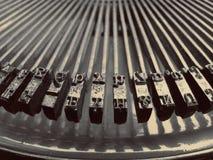 Vieilles clés de machine à écrire Photos stock