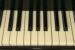 Vieilles clés de piano Photos stock