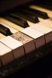 Vieilles clés de piano Photographie stock libre de droits