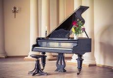 Vieilles clés de piano Image libre de droits
