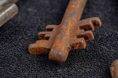 Vieilles clés rouillées Photos libres de droits