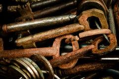 Vieilles clés rouillées Image libre de droits