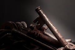 Vieilles clés rouillées Photographie stock