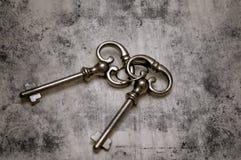 Vieilles clés squelettiques Photographie stock