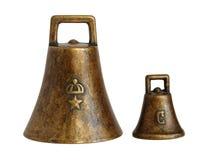 Vieilles cloches en bronze photo libre de droits