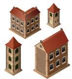 Vieilles constructions illustration de vecteur