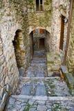Vieilles constructions dans la ville d'Imperia Images libres de droits