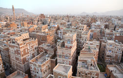 Vieilles constructions de Sanaa photos libres de droits