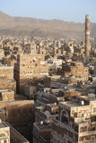 Vieilles constructions de Sanaa images libres de droits