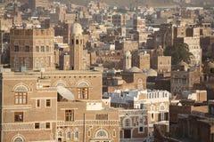 Vieilles constructions de Sanaa photographie stock libre de droits