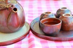 Vieilles cuvettes de thé. Image libre de droits