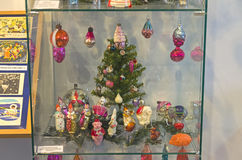Vieilles décorations de Noël sur le thème du cirque Photo libre de droits