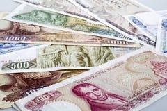 Vieilles drachmes grecques Images stock