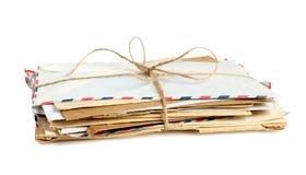 Vieilles enveloppes photographie stock