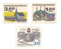 Vieilles estampilles de la Tchécoslovaquie Image stock