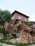 Vieilles et cassées maisons Photo libre de droits