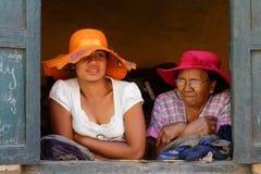 Vieilles et jeunes dames Photos libres de droits