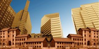 Vieilles et modernes constructions Photo stock
