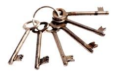 Vieilles et rouillées clés de porte Images libres de droits