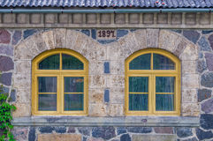 Vieilles fenêtres Photos stock