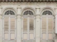 Vieilles fenêtres Chino-portugaises Photo stock