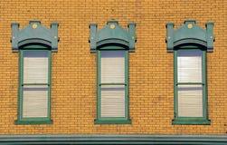 Vieilles fenêtres en bois Photo libre de droits