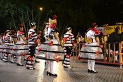 Vieilles festivités de voisinages de Lisbonne - défilé populaire de Campolide Image libre de droits