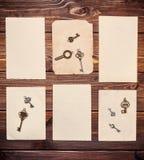 Vieilles feuilles de papier Photos stock