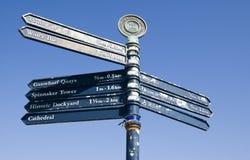 Vieilles flèches indicatrices de Portsmouth Photo libre de droits
