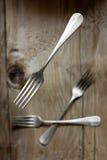 Vieilles fourchettes Images stock