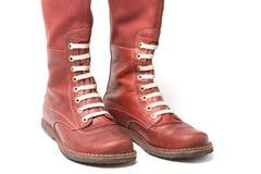 Vieilles gaines rouges, chaussures Photo libre de droits