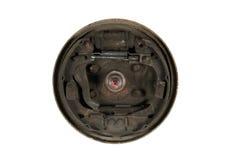 Vieilles garnitures de frein et tambour de frein de cylindre (d'isolement) Images libres de droits