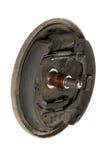 Vieilles garnitures de frein et tambour de frein de cylindre (d'isolement) Photographie stock libre de droits