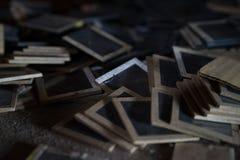 Vieilles glissières Images stock
