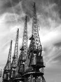 Vieilles grues de Bristol Photographie stock libre de droits