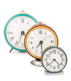 Vieilles horloges d'alarme Photos stock