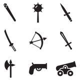 Vieilles icônes d'armes Photographie stock