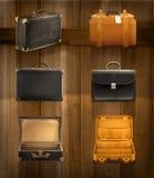 Vieilles icônes de bagages illustration stock