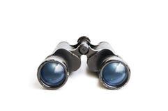 Vieilles jumelles avec la réflexion de ciel Photographie stock libre de droits