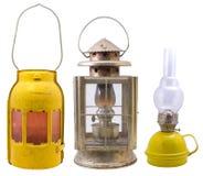 Vieilles lampes Photo stock
