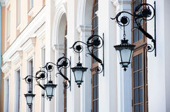 Vieilles lampes Photographie stock