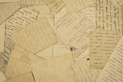 Vieilles lettres photographie stock libre de droits
