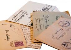 Vieilles lettres Photos libres de droits