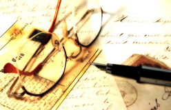 Vieilles lettres photo stock