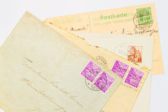 Vieilles lettres Photographie stock
